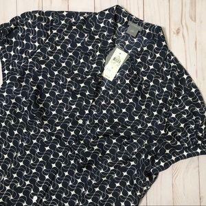 ANN TAYLOR Silk Dress Shirt NWT Button Down Top